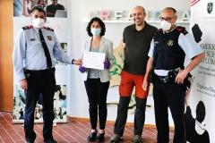 Reconeixement Mossos a CreaNova en la lluita contra el Covid-19 #2