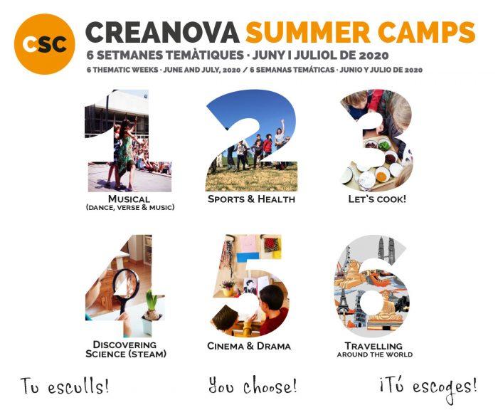 CreaNova Summer Camps 2020 - Col·legi CreaNova learning by Doing - Sant Cugat del Vallès (Barcelona)