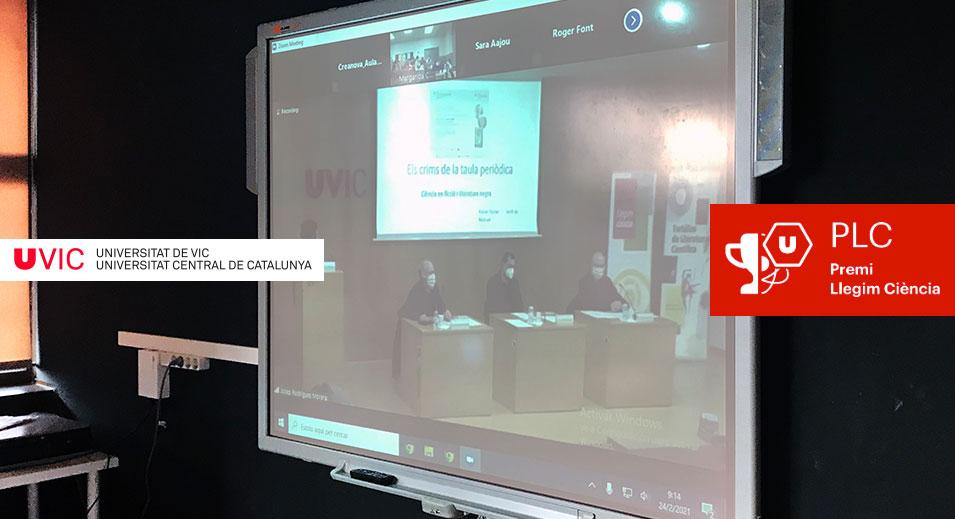 CreaNova destaca a la UVic! Premis Llegim Ciència 2021