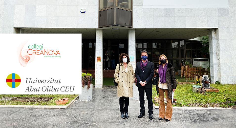 Signatura del conveni de col·laboració Col·legi CreaNova - Universitat Abat Oliba